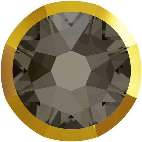 Swarovski® 2088I BLACK DIAMOND DORADO foiled