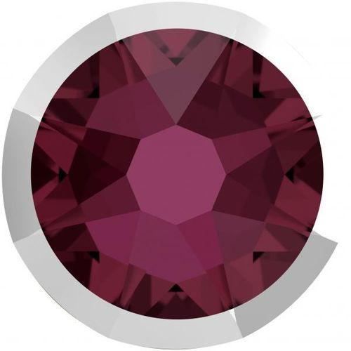 Swarovski® 2088I BURGUNDY LIGHT CHROME foiled