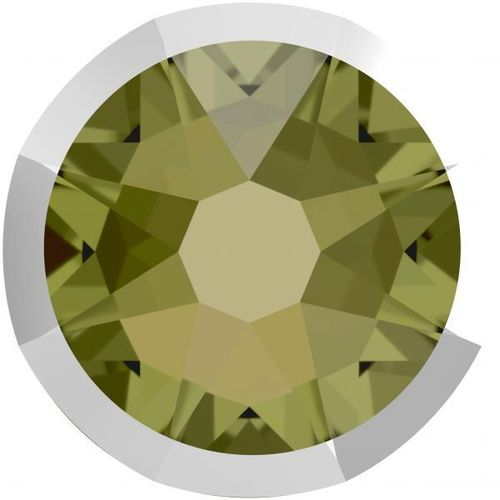Swarovski® 2088I KHAKI LIGHT CHROME foiled