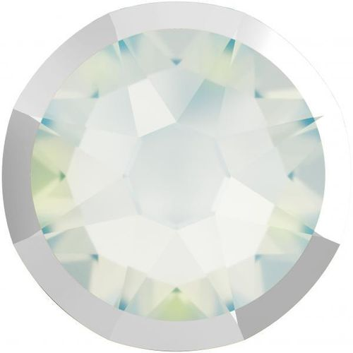 Swarovski® 2088I WHITE OPAL LIGHT CHROME foiled