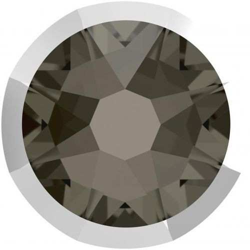 Swarovski® 2078I BLACK DIAMOND LIGHT CHROME foiled